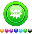 New circle button vector image vector image