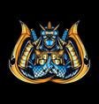 ninja as gamers e-sport logo or t-shirt design vector image