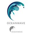 Ocean wave logo vector image vector image