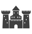 old castle black icon medieval architecture vector image