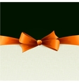 orange gift bows with ribbons vector image vector image