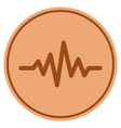 pulse signal bronze coin vector image vector image