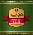 pure ceylon tea poster vector image vector image