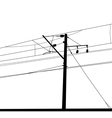 Railroad overhead lines Contact wire vector image vector image