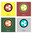 ripple xrp outline icon cryptocurrency e-currency vector image vector image
