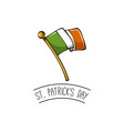 saint patrick s day design irish flag vector image