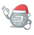 santa dash coin character cartoon vector image vector image