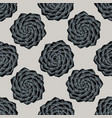 seamless pattern with hand drawn stylized camellia vector image