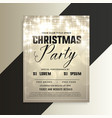 shiny christmas party invitation flyer with vector image vector image
