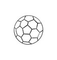 soccer ball hand drawn outline doodle icon vector image vector image
