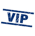 square grunge blue vip stamp vector image
