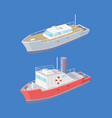 steamboat marine transport vessel sailing in sea vector image vector image