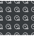 Straight black 24 hours pattern vector image vector image