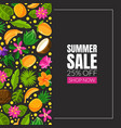 summer sale flyer on a black vector image