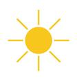 Sun icon Light yellow vector image vector image