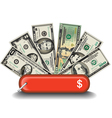 Swiss Knife Money vector image vector image