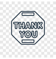 thank you concept linear icon isolated on vector image