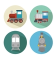 travel by train concept icon vector image vector image
