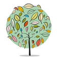 Tree - Abstract Flat Design Isolated on Whit vector image vector image