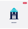 two color brewery icon from drinks concept vector image
