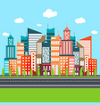 urban city flat vector image