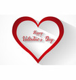 valentines heart and small hearts vector image vector image