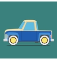 Vintage car Isolated on green vector image