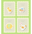 Vintage doodle set little zoo for greeting card vector image vector image