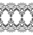 vintage seamless lace pattern - lace vector image vector image