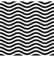Wavy line zebra seamless pattern vector image