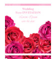 wedding invitation with roses beautiful vector image vector image