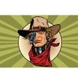 wild West bandit robot steampunk vector image vector image