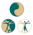 yin yang people symbol vector image