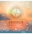 Summer typography background vector image