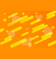 abstract dynamic orange background vector image