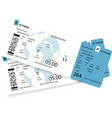 airline boarding pass or airplane ticket vector image vector image