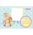 Babys calendar for february 2011 vector image vector image