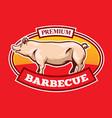barbecue logo design vector image vector image