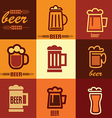 beer icons set vector image vector image