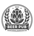Beer pub vintage isolated label vector image vector image