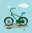 bike mountain downhill flat bicycle vector image
