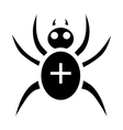 Black spider icon simple style vector image vector image