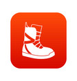 boot for snowboarding icon digital red vector image vector image
