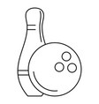 bowling icon outline style vector image vector image