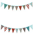 Bunting background in flat style vector image vector image