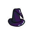 cartoon halloween witch hat vector image