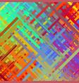 color glitch background vector image