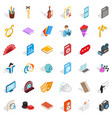 concert performance icons set isometric style vector image vector image