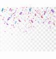 confetti isolated festive vector image vector image