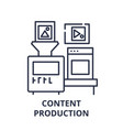 content production line icon concept content vector image vector image